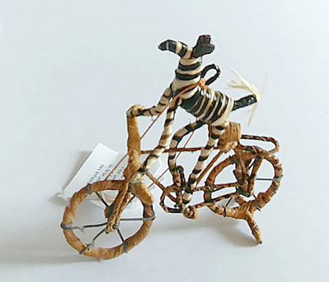 "Christmas Tree Ornament | ""Zebra on a Bicycle"""