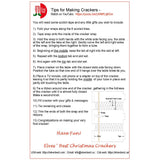 Instructions for making birthday party crackers
