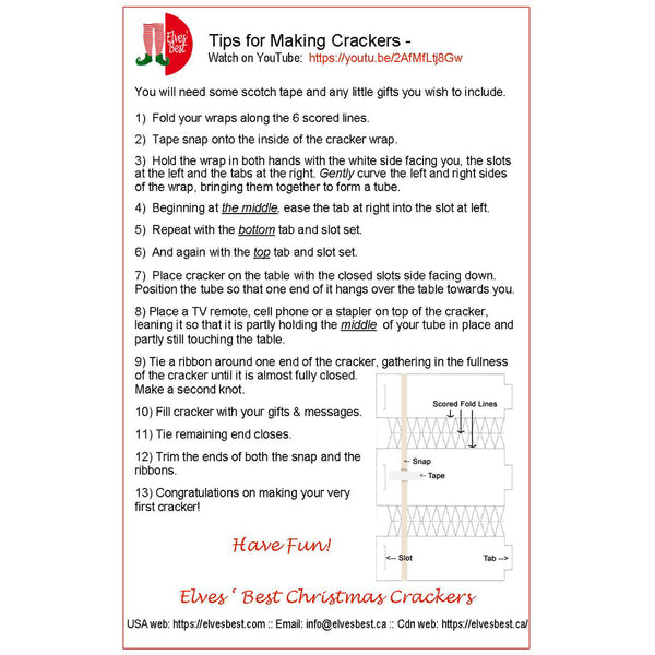 Instructions for making Easter Crackers