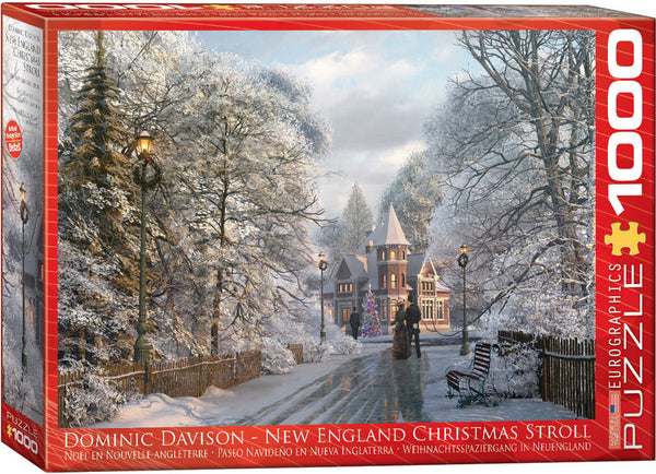 "Winter Jigsaw Puzzle | ""New England Christmas Stroll"""