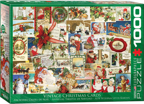 "Jigsaw Puzzle | ""Vintage Christmas Cards"". 1,000 pieces. $20"