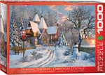 "Jigsaw Puzzle | ""Christmas Cottage"". 1,000 pieces. $20"
