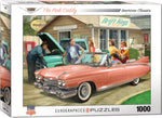 "1000 piece Jigsaw Puzzle | ""The Pink Caddy"". $20.00"
