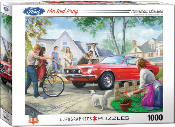 "Jigsaw Puzzle - ""The Red Pony"" - 1,000 Pieces. $20"