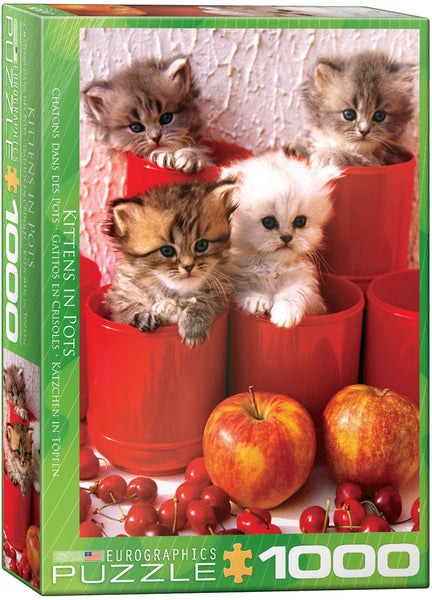 "Jigsaw Puzzle | ""Kittens in Pots"""