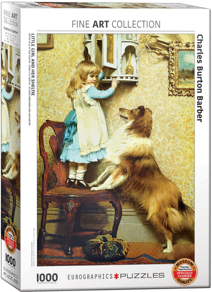 "Jigsaw Puzzle | ""Little Girl and her Sheltie"""