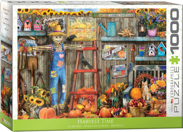 "Jigsaw Puzzle | ""Harvest Time"". 1,000 pieces. $20"