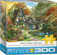 "Jigsaw Puzzle X-LG Pieces | ""White Swan Cottage"""