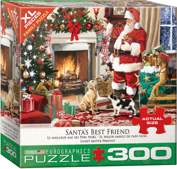 "Jigsaw Puzzle | ""Santa's Best Friend"".  300 Pieces.  $17.00"