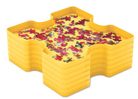 "Smart Puzzle ""Sort & Store"" Trays - 6 Stacked with puzzle pieces"