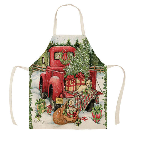 "Christmas Apron - ""Truck"""