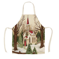 "Christmas Apron - ""Country Church"""