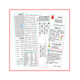 Christmas Cracker Activity Sheets with games, jokes and puzzles.