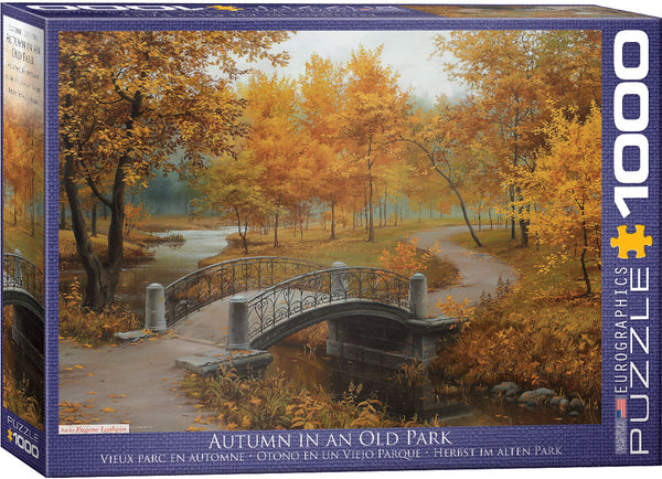 "Thanksgiving Jigsaw Puzzle | ""Autumn in Old Park"""