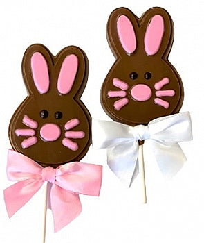 Easter Bunny Face Chocolate Pops
