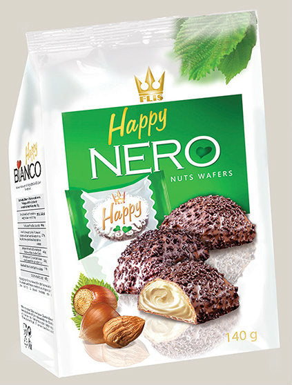 Nero Chocolate Coated Wafers with Hazelnut Filling
