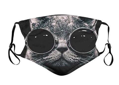 Cool Cat Face Mask