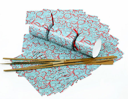 "DIY Christmas Cracker Kit - ""Candy Cane Swirls"""