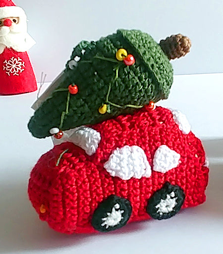 Christmas Tree Ornament - car with tree