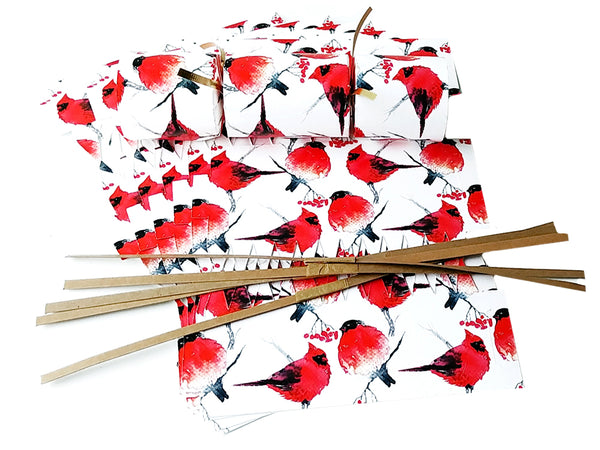 "DIY Christmas Cracker Kit | ""Cardinals & Finches"" 