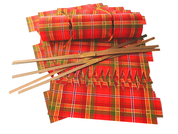 "DIY Christmas Cracker Kit | ""Bright Red Tartan"""