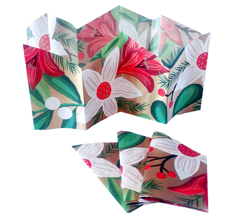 "Christmas Cracker Paper Hats | ""Christmas Flowers"""