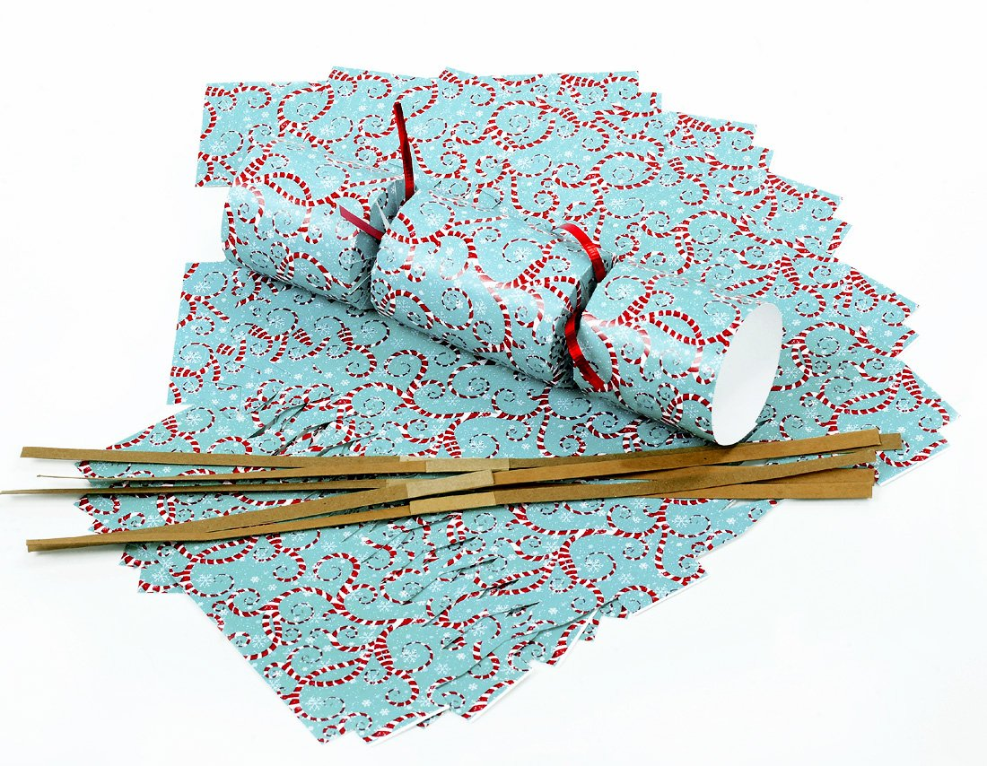 "DIY Christmas Crackers Kit | ""Candy Cane Swirls"""