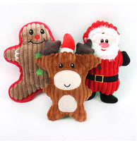 Christmas Toys for Dogs - Gingerbread, Reindeer, Santa