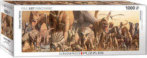 "Jigsaw Puzzle | ""Dinosaurs"" - 1,000 puzzle pieces. 39"" wide. $20.00"