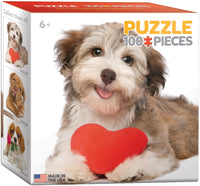 "Mini Jigsaw Puzzle - | ""Dog with Heart"" - Price: $5.00"