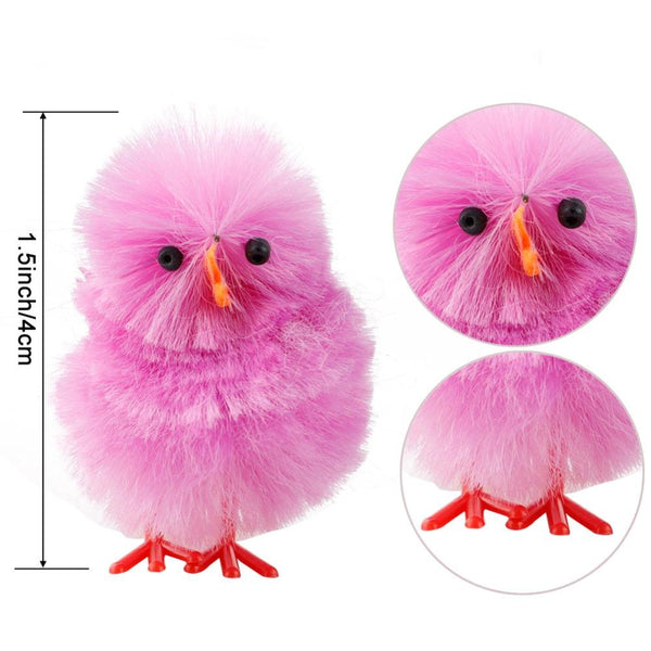 Pink chenille easter chick - measurements