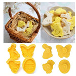 Easter Cookie Cutters showing finished cookies