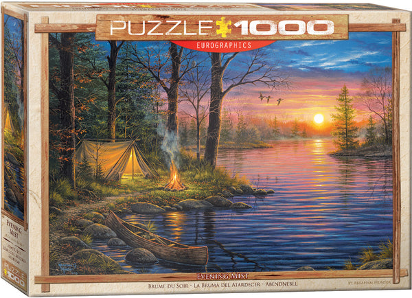 "Jigsaw Puzzle | ""Evening Mist"" - 1,000 pieces.  Cottage game."