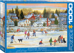 "Christmas Jigsaw Puzzle | ""Evening Skating)"