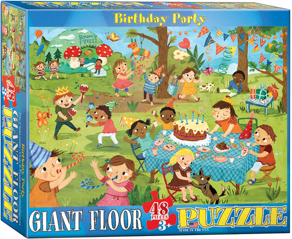 "Children's Party Floor Jigsaw Puzzle. 24"" x 36"".  48 puzzle pieces."