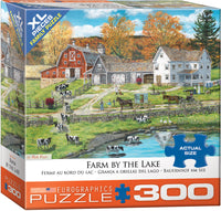 "Jigsaw Puzzle | ""Farm by the Lake"""