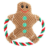 Gingerbread Rope Christmas Toy For Dogs