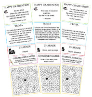 Graduation Cracker Activity sheets