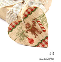 Wood Christmas Tree Ornament - Gingham & Gingerbread