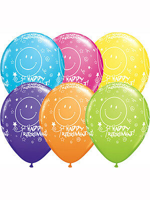 Happy Retirement Balloons - Assorted Colours
