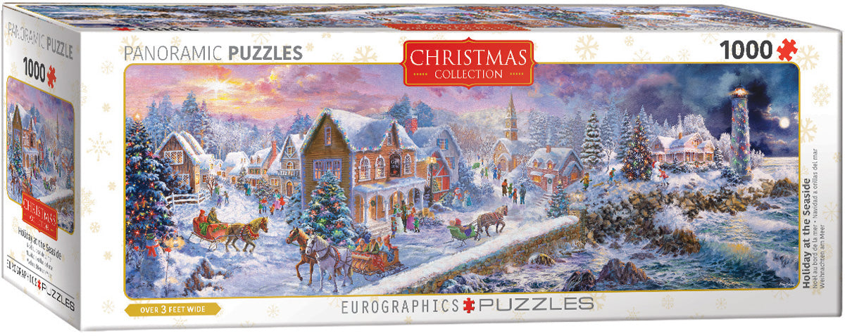 "Christmas Jigsaw Puzzle | ""Holiday at the Seaside"" - 1,000 pieces"