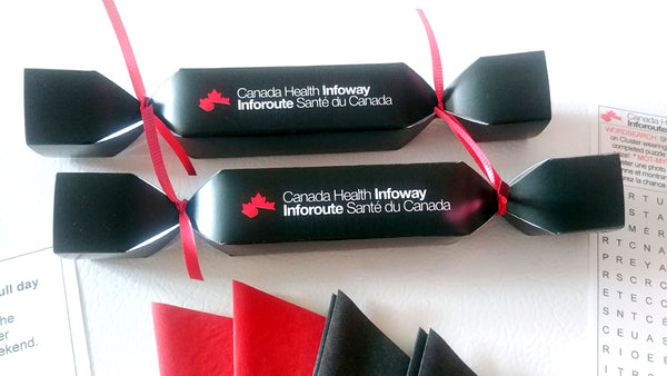Custom corporate Christmas Crackers for INFOWAY