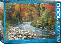 Jigsaw Puzzle - | Forest Stream in Autumn - 1,000 Pieces