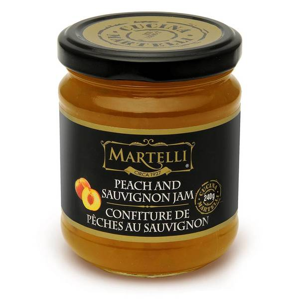 Martelli Peach and Sauvignon jam from sunny Greece