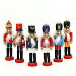 Wood Nutcracker Christmas Tree Ornaments