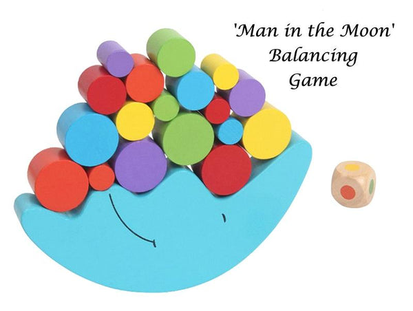 'Man in the Moon' Wood Balancing Game