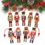 Nutcracker Tree Ornaments made from wood - flat