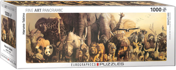"Jigsaw Puzzle | ""Noah's Ark"" - 1,000 Puzzle Pieces. 39"" wide."