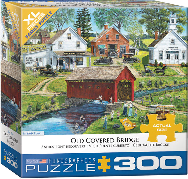 "Jigsaw Puzzle | ""Old Covered Bridge"""