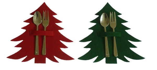 Pine Tree Tableware Holders shown with cutlery